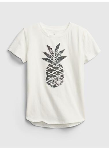 Gap Değişen Pullu Kısa Kollu T-Shirt Gri
